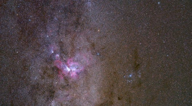 Widefield view around the Eta Carina Nebula